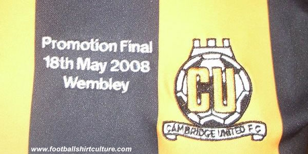 Cambridge United unveiled some special Play-off items, including a limited supply of embroidered commemorative Play-off Final home shirts