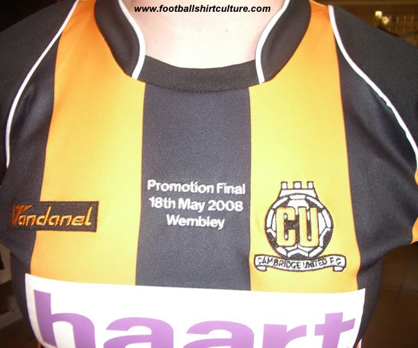 Cambridge United unveiled some special Play-off items, including a limited supply of embroidered commemorative Play-off Final home shirts.