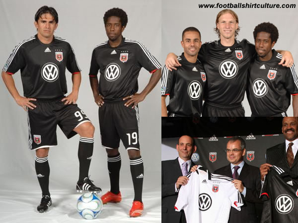 This is the new DC United home kit with the new Volkswagen Logo on the shirt.