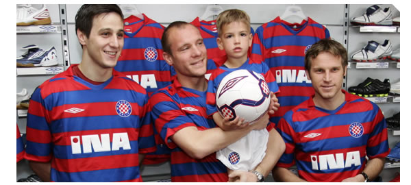 This is the brand new away Hajduk Split shirt for the 2008/09 season made by Umbro