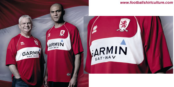 middlesbrough have unveiled their new home kit for 08-09 made by Errea, as chosen by the club's supporters.