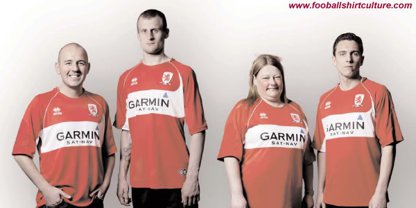 middlesbrough have unveiled their new home kit for 08-09 made by Errea, as chosen by the club's supporters