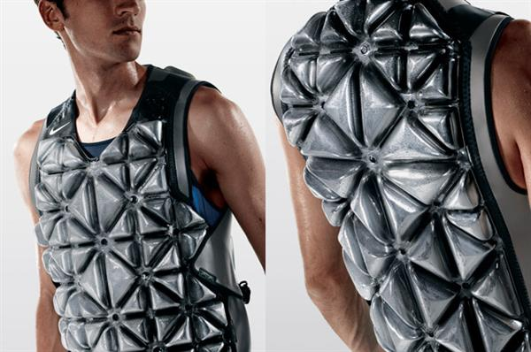 This is the new Nike PreCool Vest; not your average sports equipment, but it's very cool..