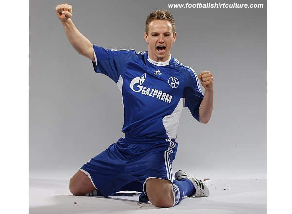 Schalke 04 unveiled their new 08/10 home shirt made by adidas The new home kit will be used for the next two seasons.