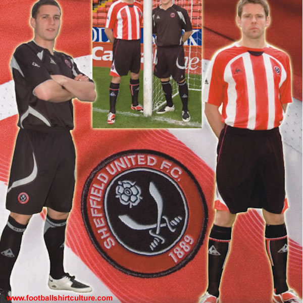 These are the new Sheffield United home and away kits made by Le Coq Sportif for the 2008/09 season
