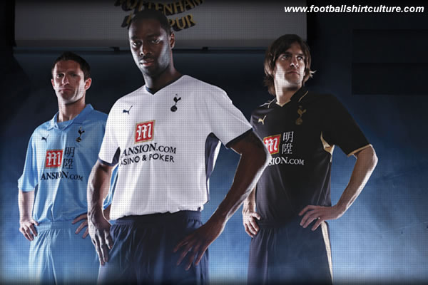Tottenham Hotspur launched their new Home, away and 3rd  kits for the 08/09 season made by puma