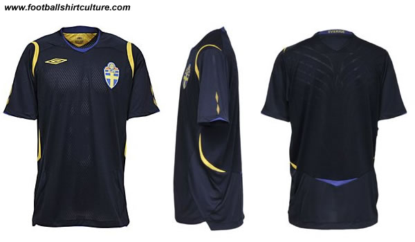 This is the new Sweden away shirt made by umbro for Euro 2008