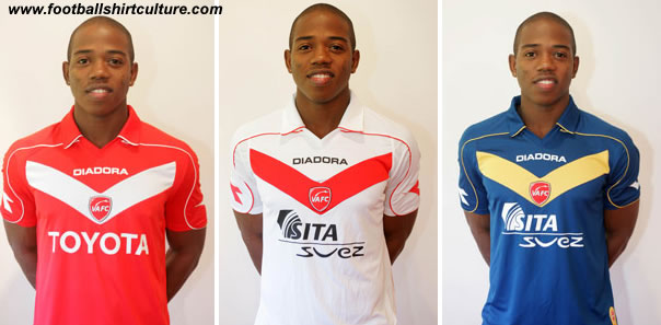 Valenciennes unveiled their new 08/09 home, away and 3rd kits.