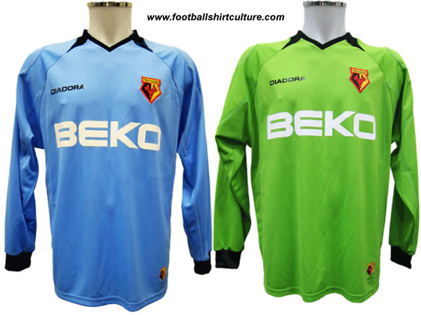These are the new Watford goalkeepers shirts.
