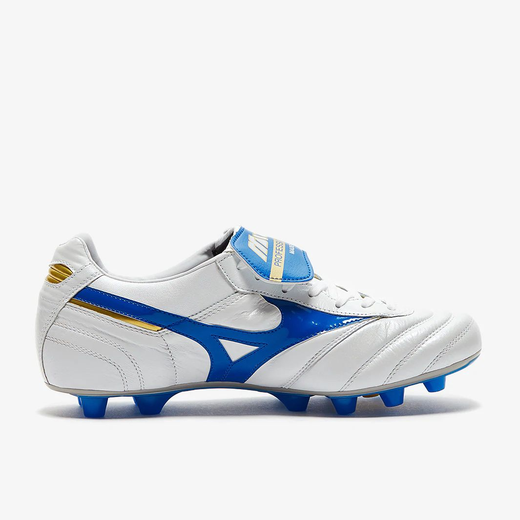 3ad0011db15b Mizuno Morelia II Made in Japan FG - White / Wave Cup Blue / Cyber Yellow