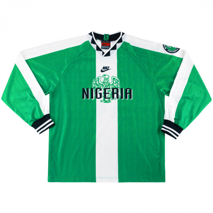 best service 4a45b 40929 Nike 1996-98 Nigeria Match Issue Home Shirt | Vintage ...