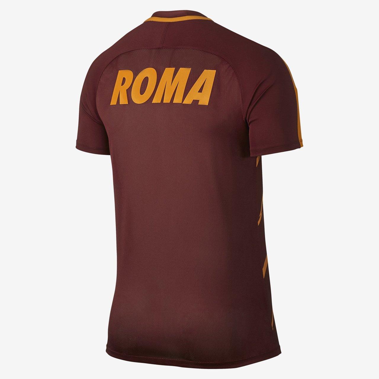 Nike A.S. Roma Squad Football Top - Team Red / Kumquat / Kumquat