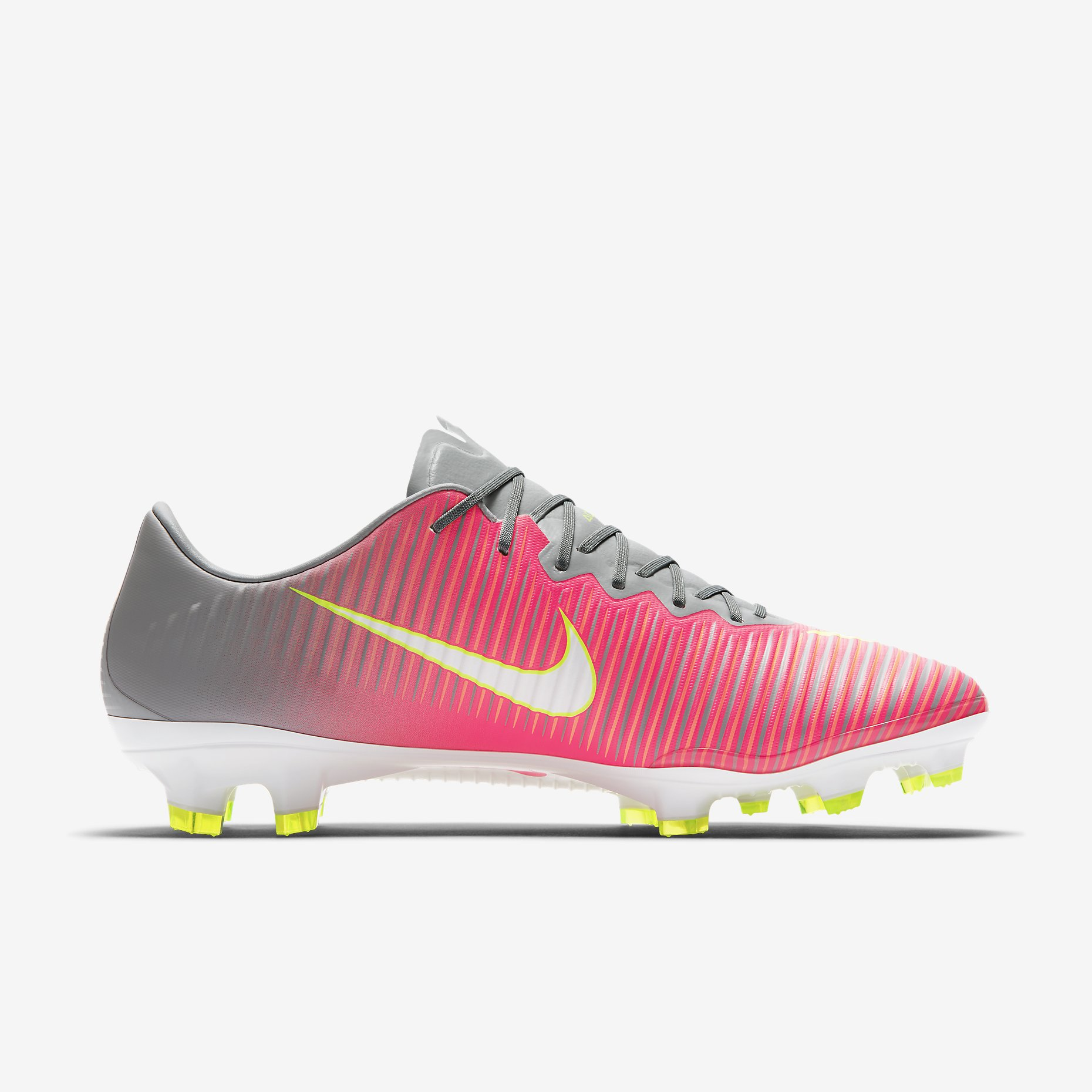 nike mercurial vapor xi women 39 s fg motion blur hyper pink wolf grey tart white. Black Bedroom Furniture Sets. Home Design Ideas