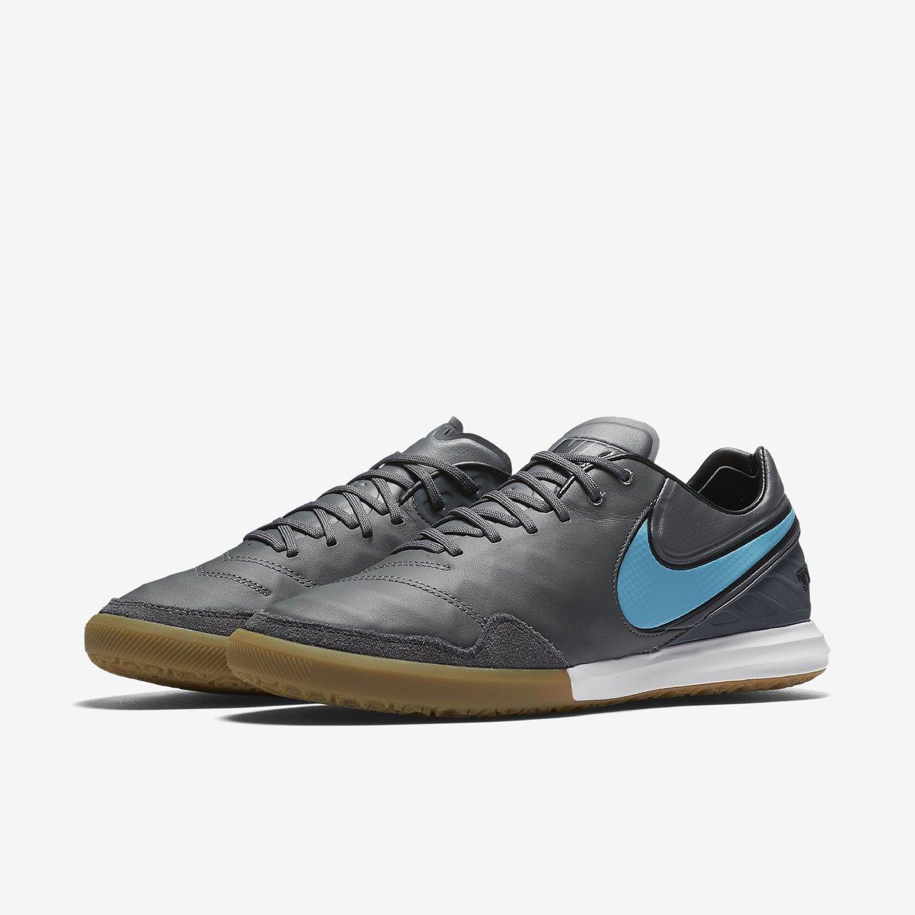 b76831faab21 Nike TiempoX Proximo IC - Dark Grey / Gum Light Brown / White / Polarised  Blue