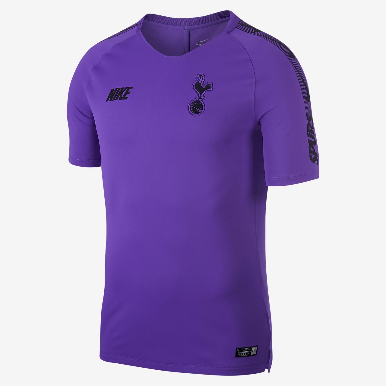 Nike Tottenham Hotspur Breathe Squad Football Top Hyper Grape Black Black Equipment Football Shirt Blog