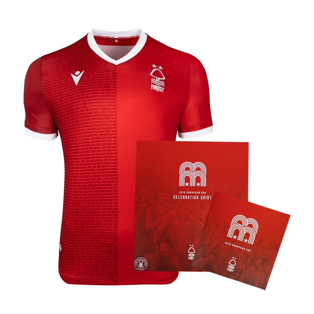 Nottingham Forest 2019 Macron 40th Anniversary Shirt 19