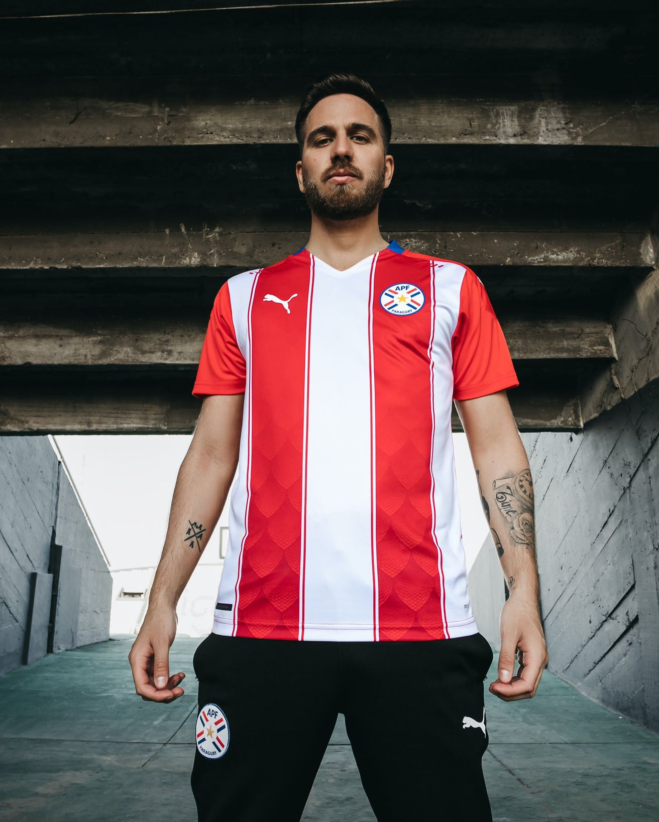 FM Paraguay Jersey 2020-2021 RED/&White Color