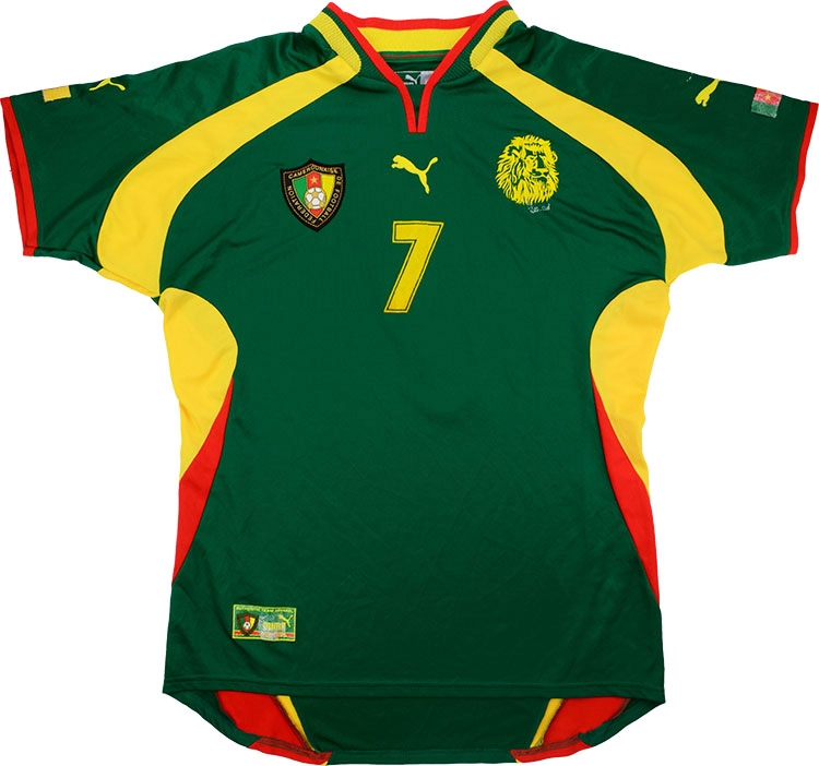 aa29450c8 Click to enlarge image  puma 2000 cameroon match issue africa cup of nations final home shirt tchoutang a.jpg  ...