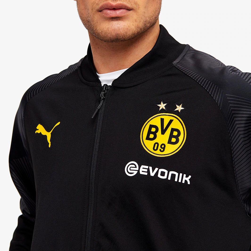 Puma Borussia Dortmund 2018/19 Stadium Jacket - Puma Black ...
