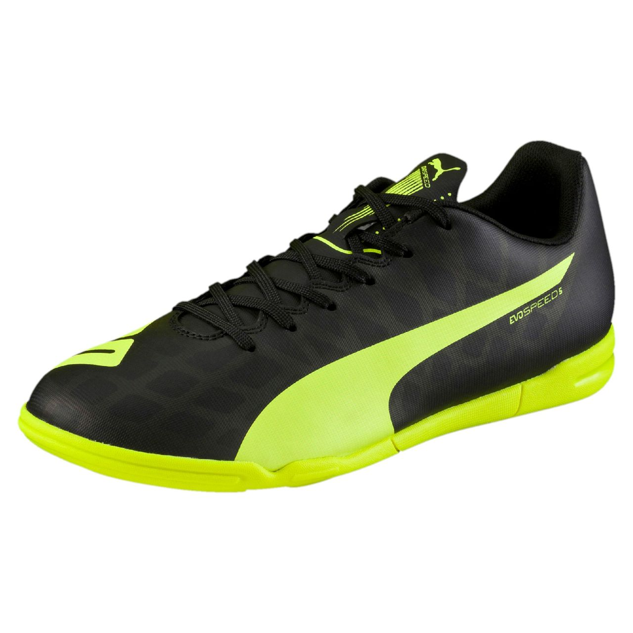 Puma Evospeed 5.4 IT Indoor Training Shoes - Black   Safety Yellow ... 0920697d0bf7