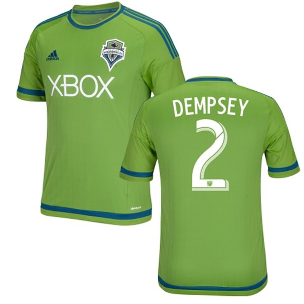 ff5a8b57c39 ... DEMPSEY MARTINS Seattle Sounders 2015 Adidas Home Football Shirt ...