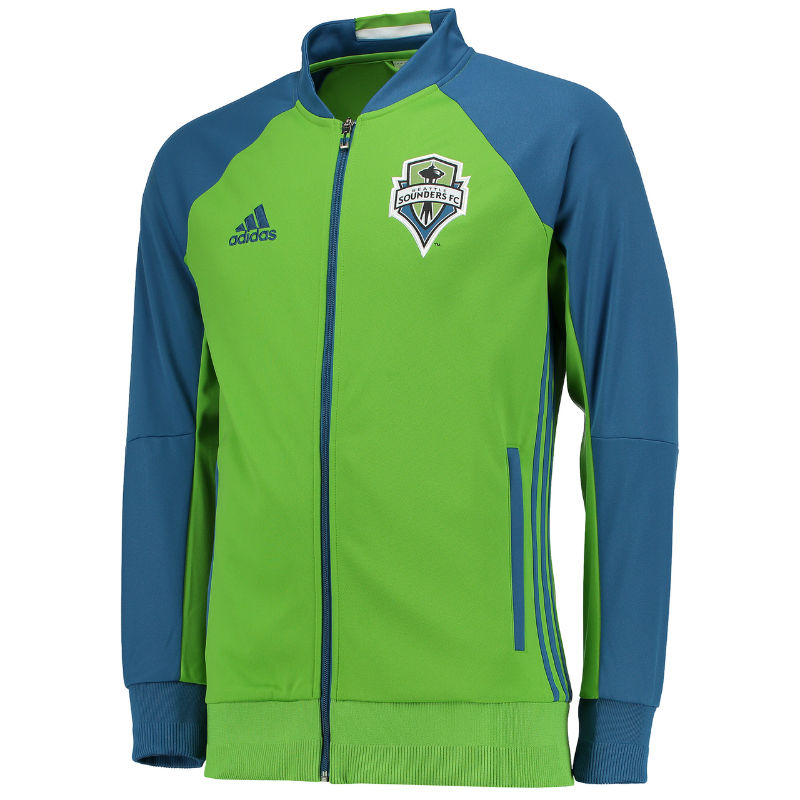 pretty nice 588a0 dc177 Seattle Sounders 2016 Adidas Anthem Jacket - Green ...