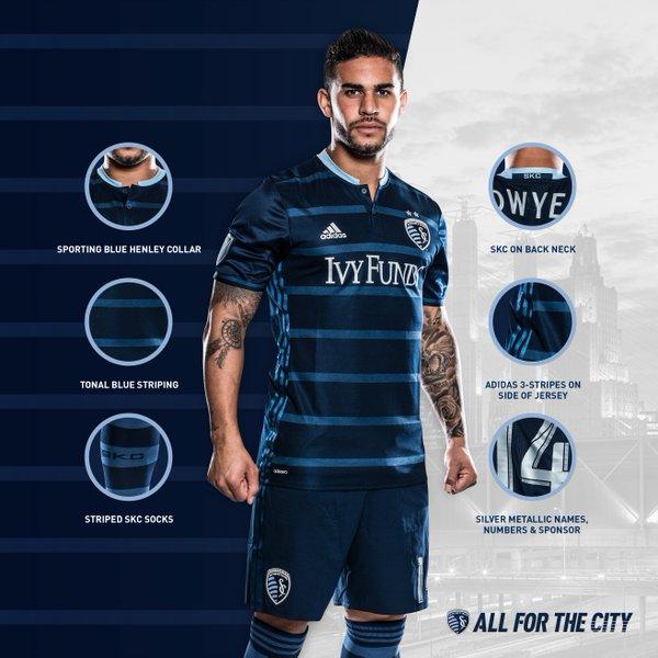 buy popular 313d7 1313b Sporting Kansas City 2016 Adidas Away Kit | 16/17 Kits ...