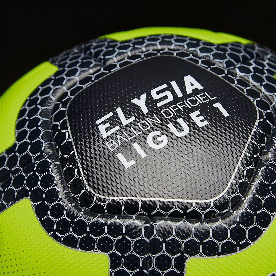 uhlsport elysia ballon fluo officiel ligue 1 fluo yellow navy silver equipment. Black Bedroom Furniture Sets. Home Design Ideas