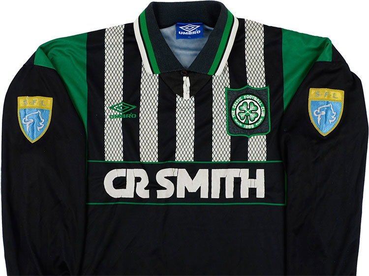 promo code 97299 14072 Umbro 1994-96 Celtic Match Worn Away Shirt | Vintage ...