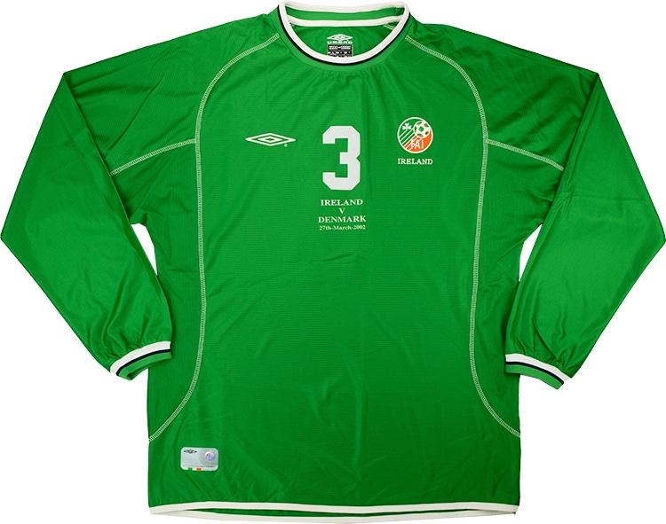Umbro 2002 Ireland Match Worn Home Shirt