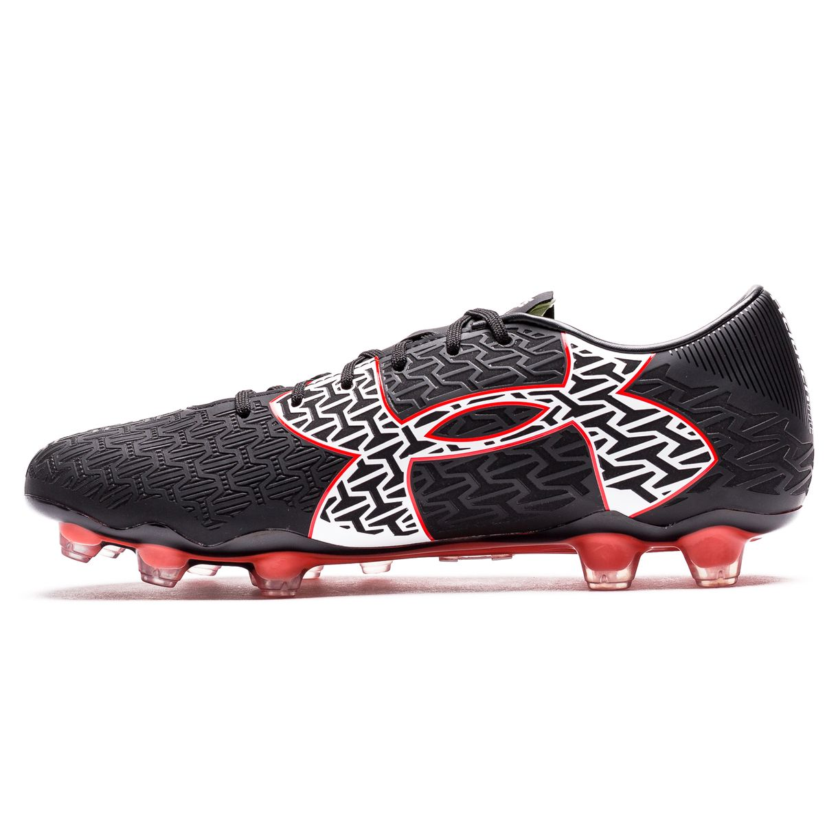 Black// Rocket Red// White Cleat Soccer Shoes Under Armour Clutchfit Force 2.0 FG